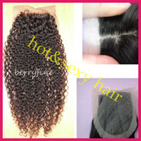 Brazilian Hair Natural Color Curly Stock Silk Base Closure Brazilian Peruvian Malaysian Indian Hair Deep Wave Curly Lace Closure 4x3.5 Silk Top Closure Free Style