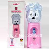 0 GAW-012-Mickey Plastic Free Shipping 1Piece 2.5 Liters Mickey Style Mini Water Dispenser 8 Glasses Water Dispenser