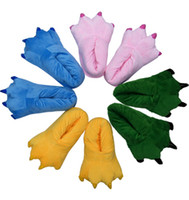 Wholesale Monsters big feet Foot yellow Green pink blue Animal Claw Slipper Paw