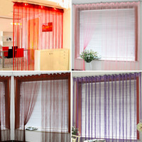 Wholesale 15Colors String Curtain Line Tassel Drape Window Panel Fringe Panel Room Divider Wedding Drapery cm cm