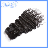 Brazilian Hair Ombre Color Curly New Star Brazilian Virgin Hair middle part loose wave Silk Base lace closure top closures. 10-20inch DHL Free shipping