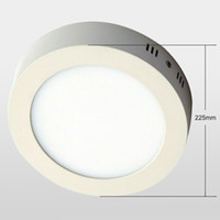 No 85-265V 2835 Free shipping 20pcs lot LED panel light 18W surface mounted light 8inch high lumens downlight round
