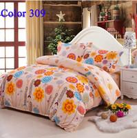 Wholesale Home decor Bedclothes Cozy bedrooms Warmest room Comfortor Bedding Set Queen King size Bedding sets Bed Sheet Duvet cover set color309