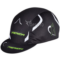 Wholesale Merida Team Outdoor Sports Bicycle Scarfs Perspire Sunscreen Hats Cycling Bike Riding Caps Black
