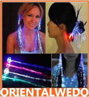 Wholesale Retail packing LED aglimmer color changing Flash hair braid Novelty party decoration top sale