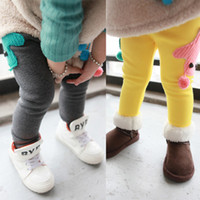 Jeans Girl Summer free shipping Children's clothing 2013 winter female child legging plus velvet thickening boot cut jeans infant baby trousers