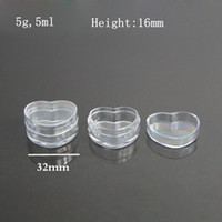 PS plastic cosmetic containers - g heart type cream jar cosmetic container plastic bottle sample jar TG