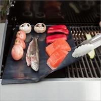 Wholesale BBQ LINER BBQ MAT BBQ SHEET PTFE Non stick Oven Liner BBQ Mat x400x0 mm