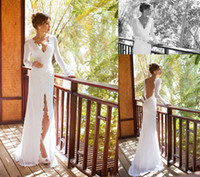 2014 Shining Sheath Column Wedding Dresses V- Neck Court Trai...
