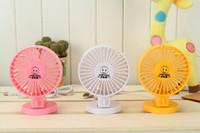 Wholesale 90PCS Mini Electric Fan Usb Small Fan Cartoon Silent Fan Double Motor Small Electric Fan Double Leaf Fan Six Colors