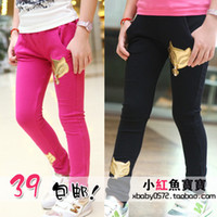 Jeans Girl Summer Children's clothing trousers 2014 spring child casual trousers female child boot cut jeans 100% baby cotton skinny pants