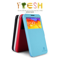 For Samsung Leather White For N7505 GALAXY Note 3 Neo phone case NILLKIN-Fresh phone holster with Retail Box Free shipping