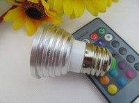 Wholesale Energy Saving W RGB GU10 E27 MR16 E14 LED Bulb Lamp light Color changing colors Spotlight with IR Remote control