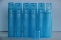 Wholesale 5ml Blue refillable perfume Spray Pen Bottles Cosmetic perfume sample packaging Bottle