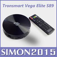Cheap Android 4.4 OS XBMC Android TV BOX Tronsmart Vega Elite S89 Quad Core Amlogic S802 2.0GHz 2G 8G BT 2.4G wifi smart tv stick mk808 1pcs