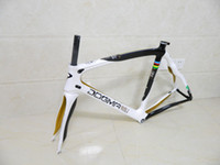 Wholesale CICLI nuove Pinarello DOGMA World Champion carbon road bike frame white gold bicycle Frameset with