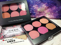 Wholesale Famous brand M Professional Colors Blusher Matte Blush kit makeup palette LONG LASTING EASY TO WEAR with blush Brush