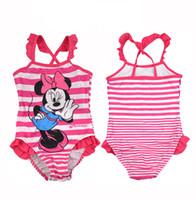 Cheap Girl swimming suits Best One-piece 2T-3T Cartoon Swimwear 2014