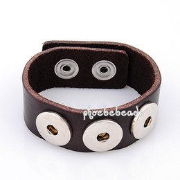 Wholesale High Quality Noosa Chunk Snap Leather Bracelets Various Colors PBNB