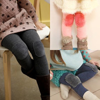 Jeans Girl Summer 2014 autumn plush patch child baby girls clothing legging boot cut jeans long trousers 5157