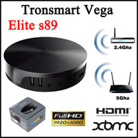 Cheap Android 4.4 OS Android TV BOX Tronsmart Vega Elite S89 Quad Core Amlogic S802 2.0GHz DDR3 2G 16G Bluetooth 2.4G wifi smart tv box 4K*2K HDMI