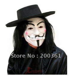 Wholesale hot New V for Vendetta Anonymous Movie Adult Guy Mask Hot Halloween Cosplay Cool China Mask for Masquerade Suppliers