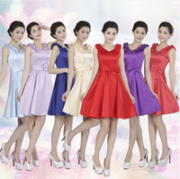Wholesale 2014 new wedding dress bridesmaid bridesmaid dress short paragraph shoulders Mission