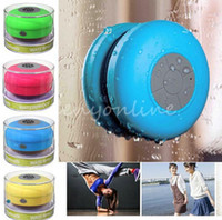 Wholesale New Portable Waterproof Wireless Bluetooth Speaker Shower Car Handsfree Receive Call amp Music Suction Phone Mic Promotion