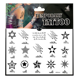 Wholesale Male and female beauty magic tattoo stickers waterproof tattoo sticker body tattoo stickers painted stealth cover star MR0510
