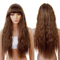 Wholesale Fashion New Womens Ladies Fancy Dress Long Curly Wavy Wig Costume Party Cosplay Wigs Hair fx264