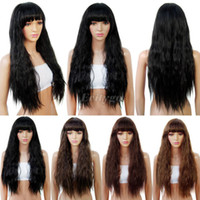 Wholesale New Womens Ladies Fancy Dress Long Curly Wavy Wig Costume Party Cosplay Wigs Hair fx264