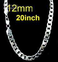 Wholesale 1pc Hot mm inch sterling silver men s charms curb chain necklace fashion men s jewelry New