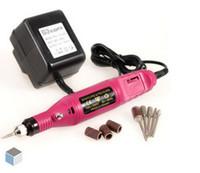 Wholesale Salon Manicure Tool Box - Free Shipping Pen Shape Electric Nail Drill Machine Art Salon Manicure File Polish Tool Manicure Kits+6 Bits with Retail Box