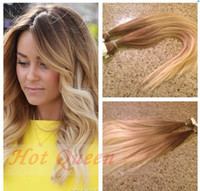 Cheap Brazilian Hair skin weft hair extension Best Ombre Color Straight tape in hair extension