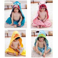 Wholesale Children s Cartoon Baby Hooded Bath Towel Bathrobe Cotton Terry Infant Kids Bathing Toddler sized