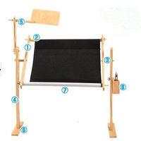 Wholesale Solid wood adjustable embroidery frame Large desktop box extra large cross stitch rack