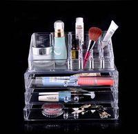 Plastic plastic drawer storage box - Multi compartment Clear Acrylic Drawers Cosmetic Organizer Makeup Storage Box Holder Set X15X11cm K07565