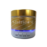 Wholesale Mini S07U Model Bluetooth Speakers Subwoofer Support LED Flash phones Hands free calls laptop tablet PC TF card FM