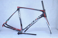 Wholesale 2014 black red de rosa frame Nuova King RS Action Stealth Road Bike Carbon Frames Italy Quality Bicycle Racing Carbon Frameset SUPERKI