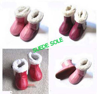 Wholesale months First walker shoes sandals boots Genuine leather boots Baby soft sole shoes boot with fur lining Prewalkers bootie styles