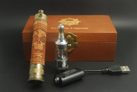 Single   Cheapest E Fire X Fire E Fire V2 VV Fuction Environmental protection Pure Wood Tube Design E cigarette Kit Wholesale DHL Free Shipping