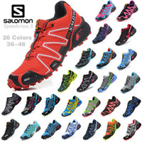 Wholesale 2013 Zapatillas Salomon Speedcross Running Shoes Sneakers Hiking Shoes Men Women