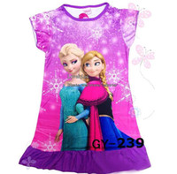 Wholesale Frozen Cute Dresses Kids Summer Dress Fashion Dresses Children Clothing Girl Dresses Princess Dress Girl Clothes Kids Dresses Child Dress