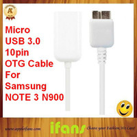 Wholesale 50pcs For Galaxy Note OTG Cable USB Adapter Cable For Samung N9006 OEM High Quality