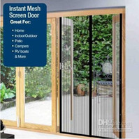 Wholesale Black cm Magic Mesh Hands Free Insect Screen Door Curtain Net Magnetic Anti Mosquito Bug Divider Curtain