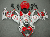 Wholesale Fairings for GSXR600 K6 GSXR600 GSXR600 GSXR Luckystrike Red White