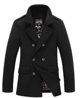 Wholesale spring High quality parka dark winter autumn self designed thicken Wool fashionable business man coat M XXXL