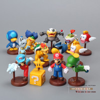 Wholesale Super Mario Bros Koopalings Bowser Blurp PVC Action Figure Toys Dolls set New in Retail Box Green SMFG217
