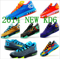Wholesale 2014 Cheap Boys Best Basketball Shoes New BHM ZOOM Mens Best Basketball Shoe Kevin Durant VI KD Men Basketball Shoes Sports Shoe KD VI