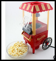 Wholesale Hot Fashion Cool Electronic Gadget DIY Mini Popcorn Machine Retro Carriage Euro and America Style Popcorn Machine